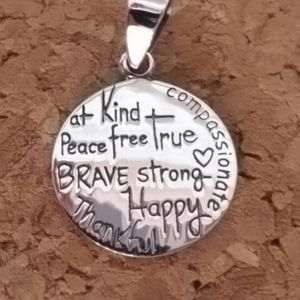 925e Jewelry - Sterling Positive thoughts Charm